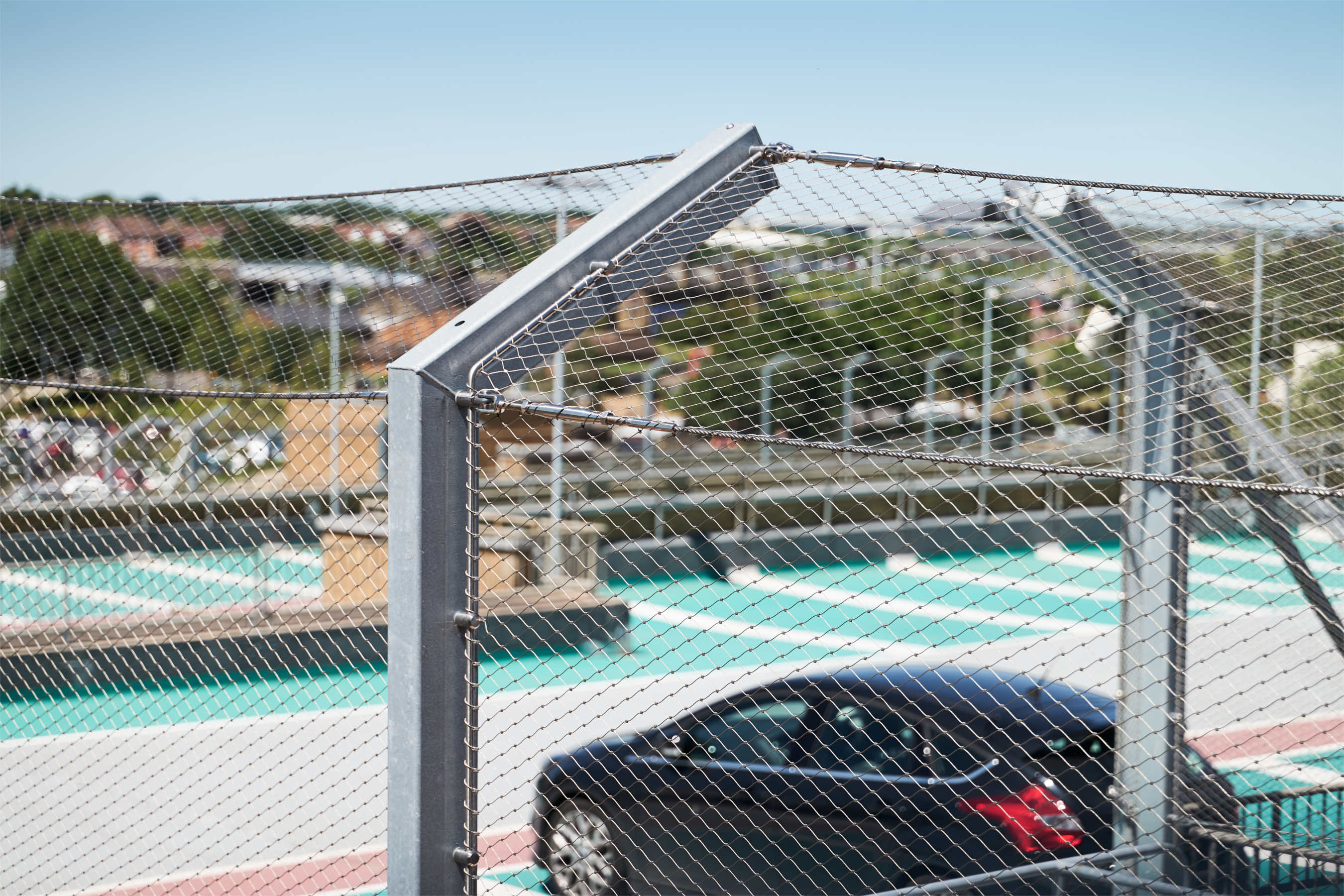 Anti Fall Webnet System for Car Parks